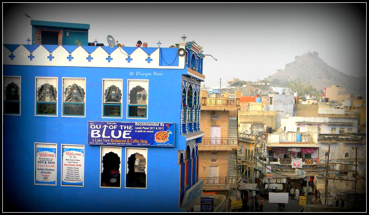 Cafe out of the blue, Pushkar