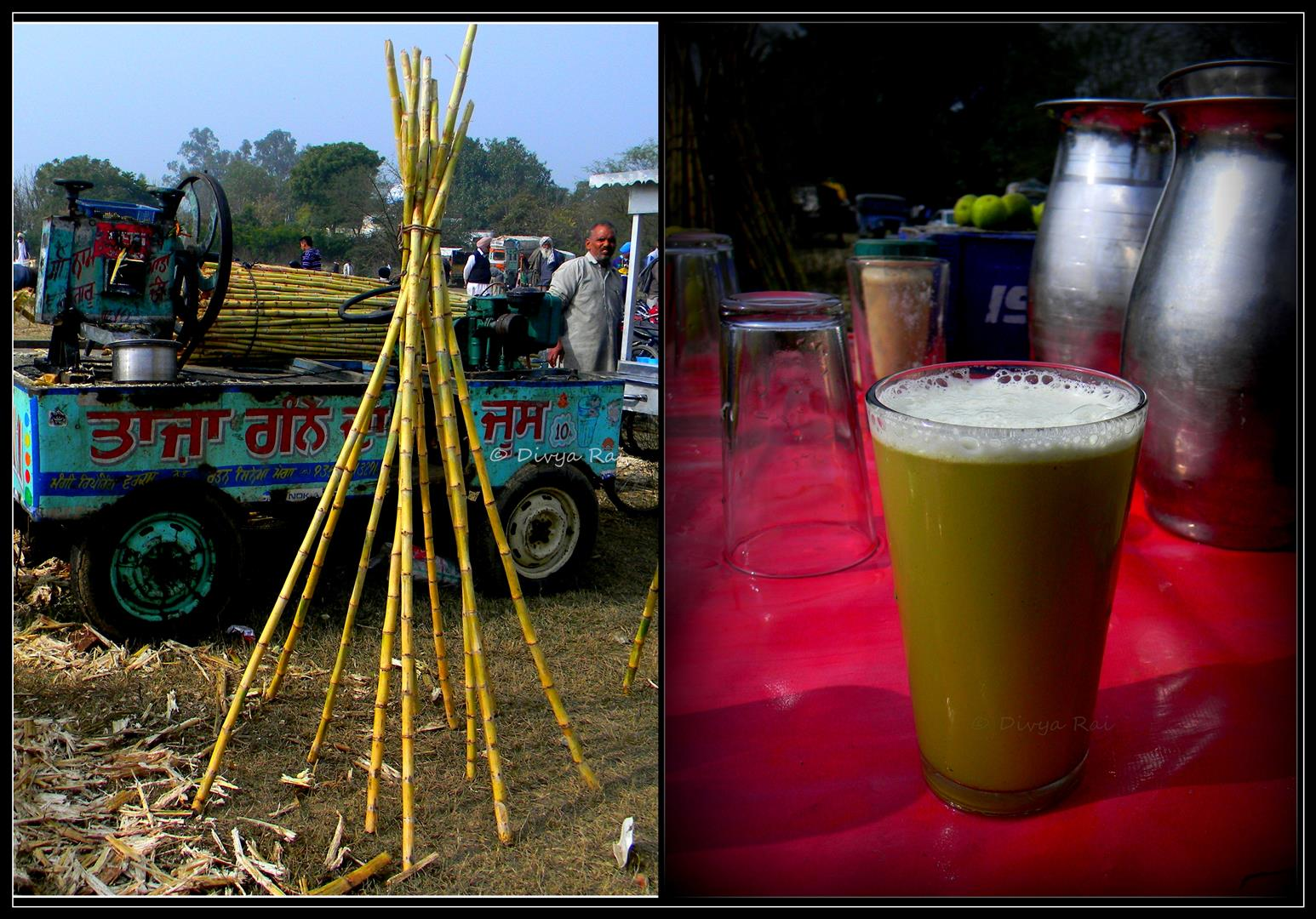 Sugarcan juice stalls