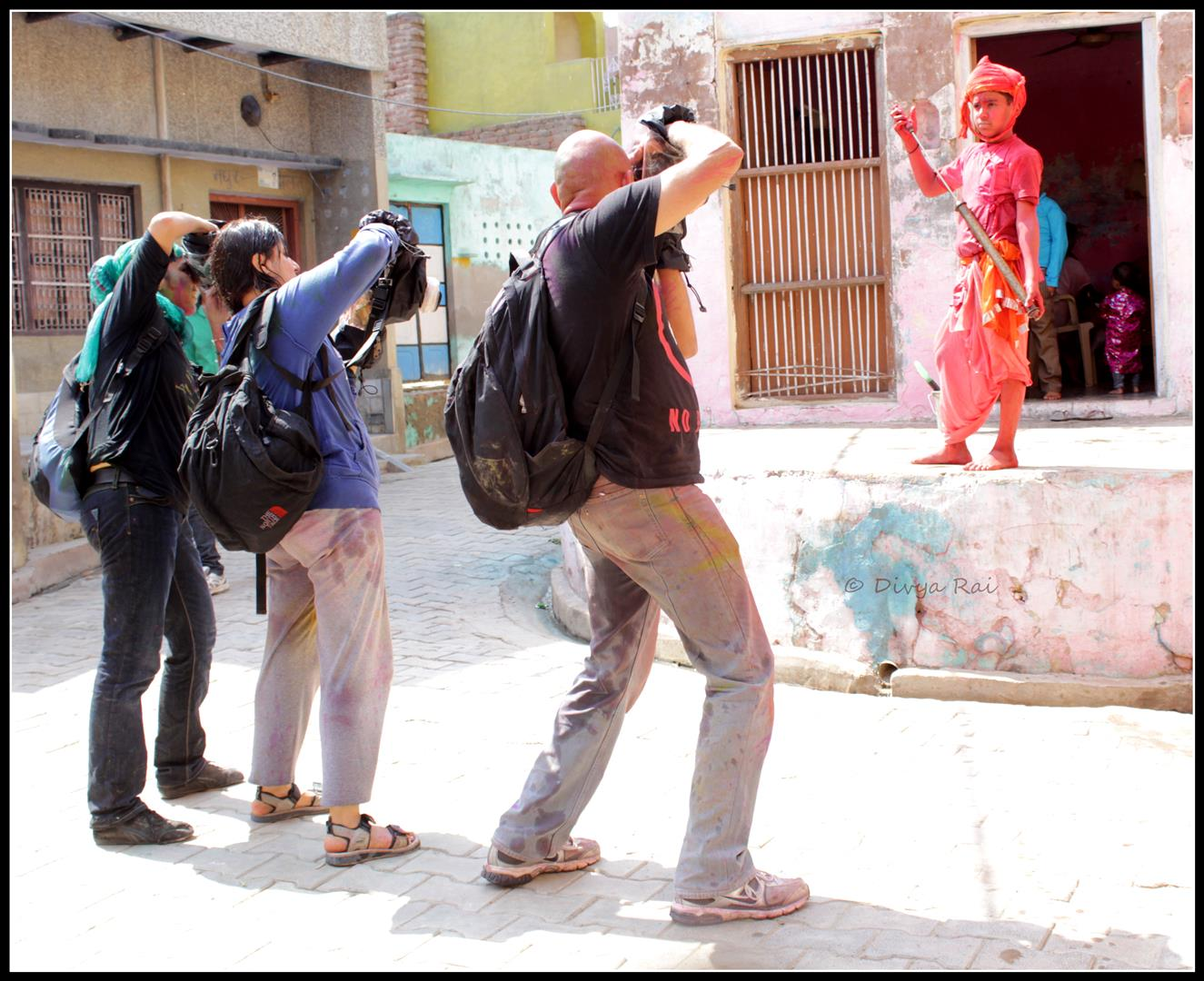 photogrphers shooting holi