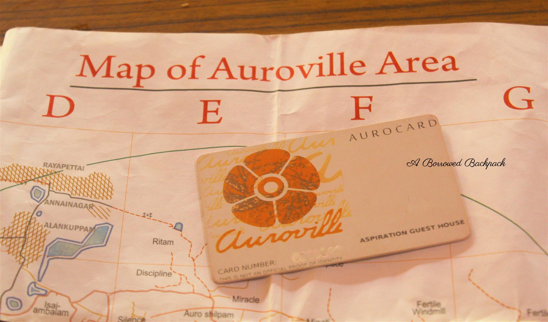 Auroville map Auro Card