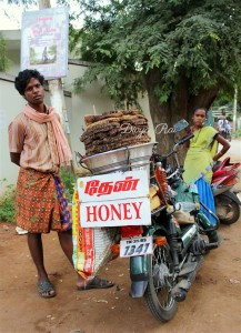 Honey Seller in Auroville