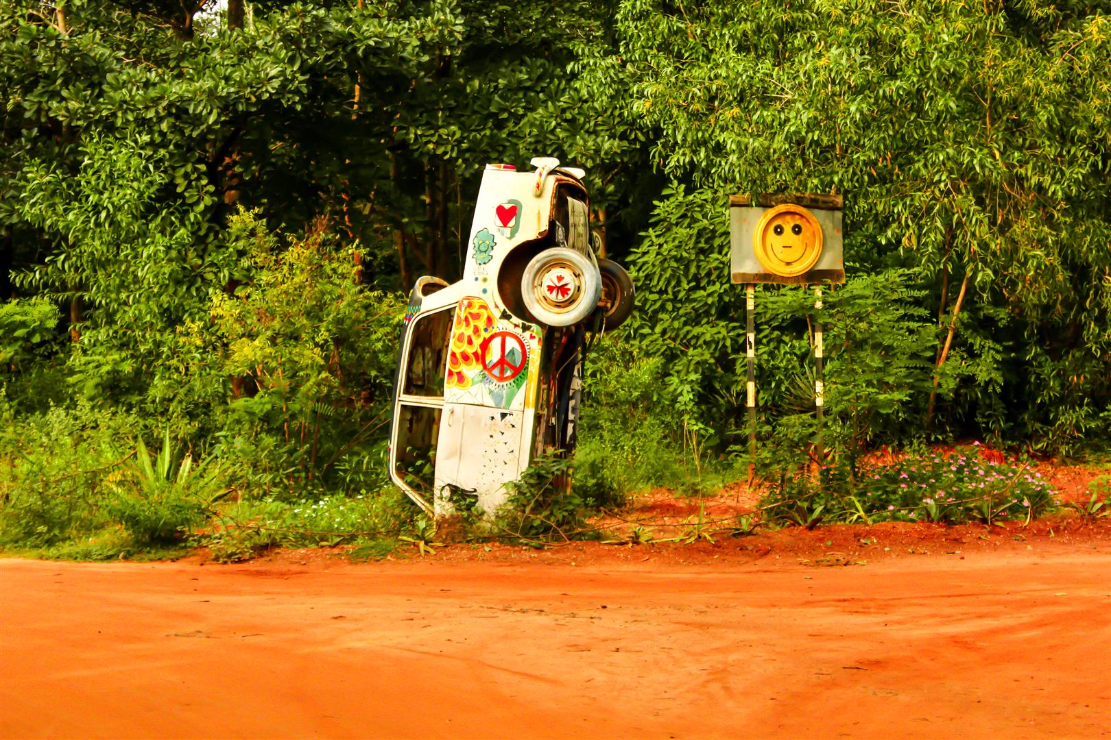Car in Auroville