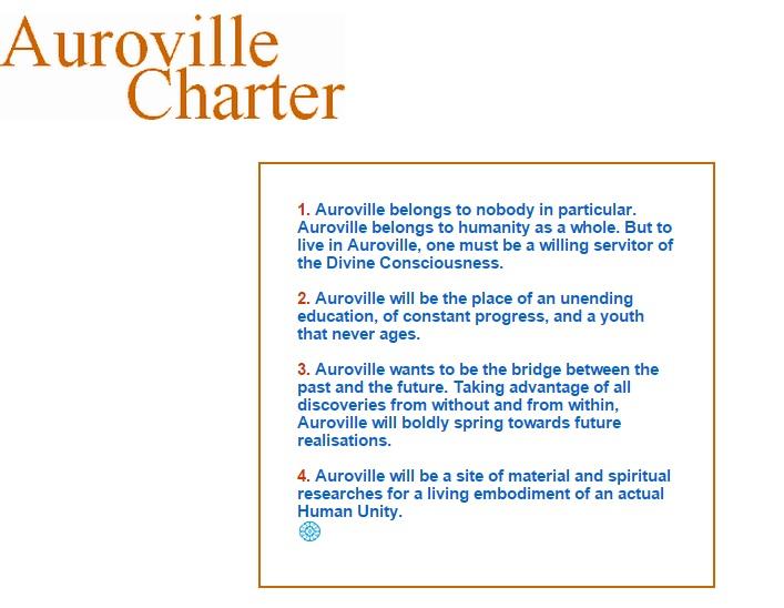 Auroville Charter