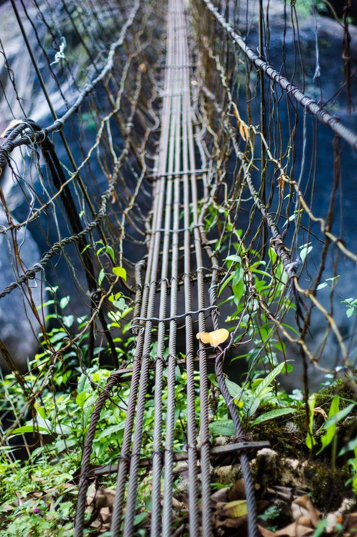 Wire bridges of Meghalaya