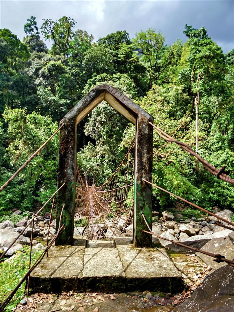 Wire bridges Meghalaya