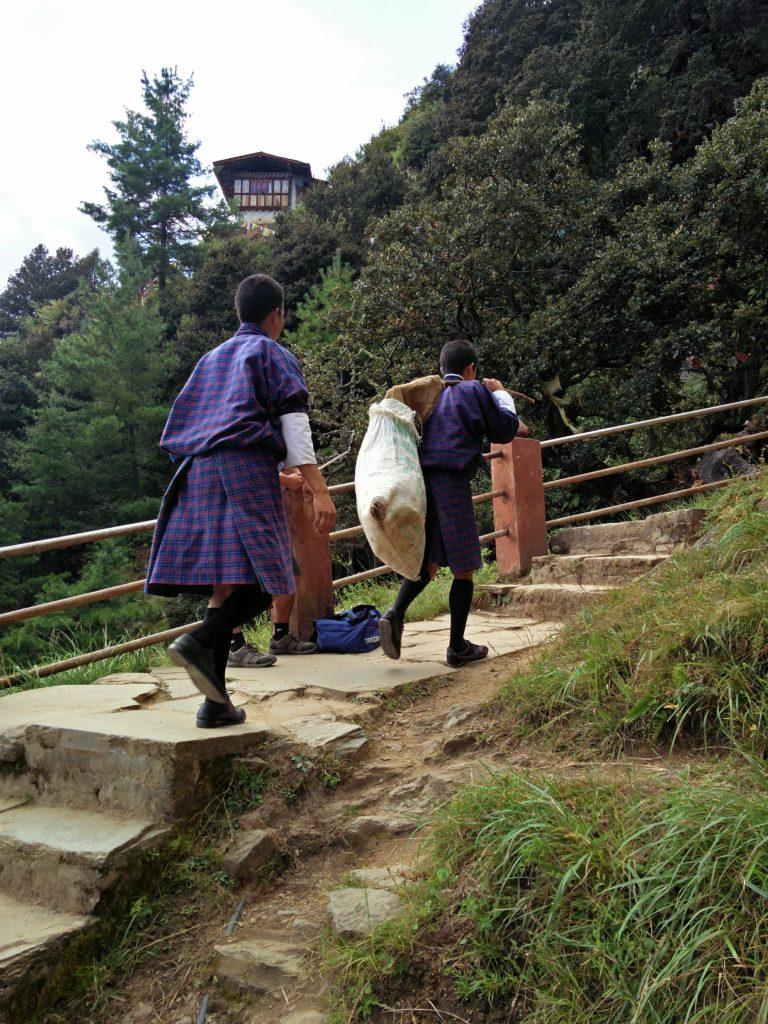 Buddhism students at Taktsang Monastery