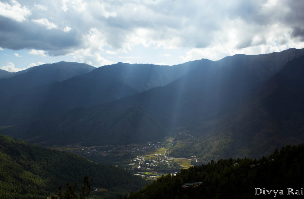 View of Paro from Tiger's Nest