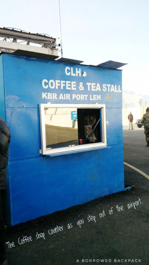 Coffee Counter Outside Leh Airport