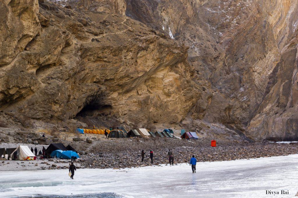 Campsites at Chadar Trek